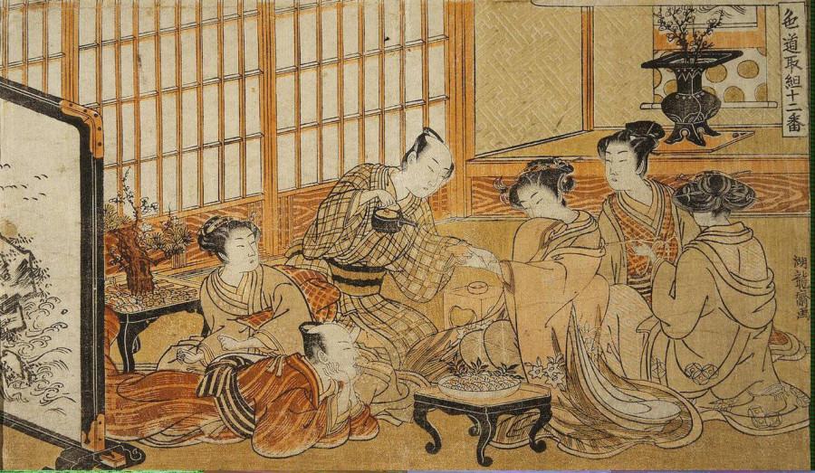 самурай пьёт чай