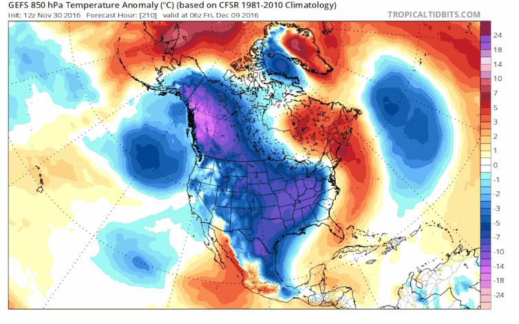 аномальные холода в США