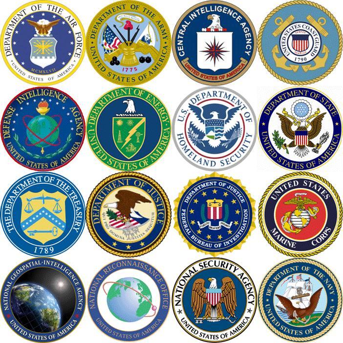 эмблемы спецслужб США