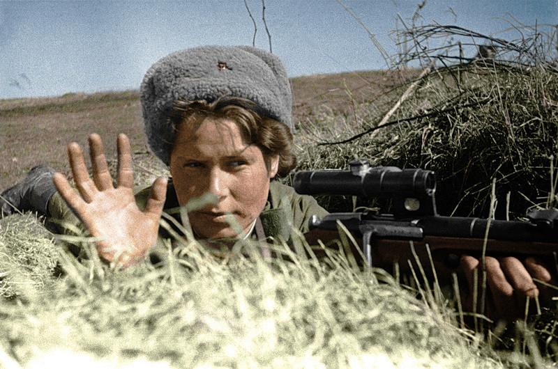 женщина-снайпер