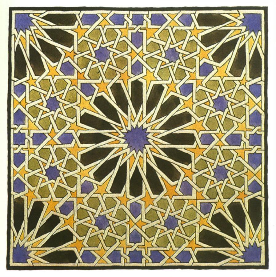 Эшер_настенная мозаика в Альгамбре_1922