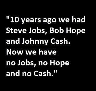 no jobs, no hope, no cash