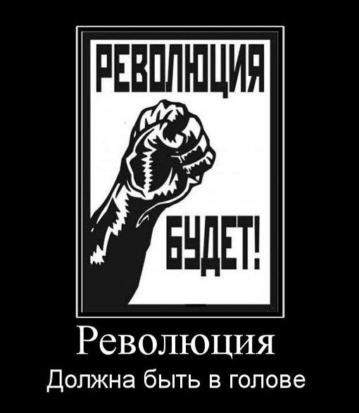 революция должна быть в голове