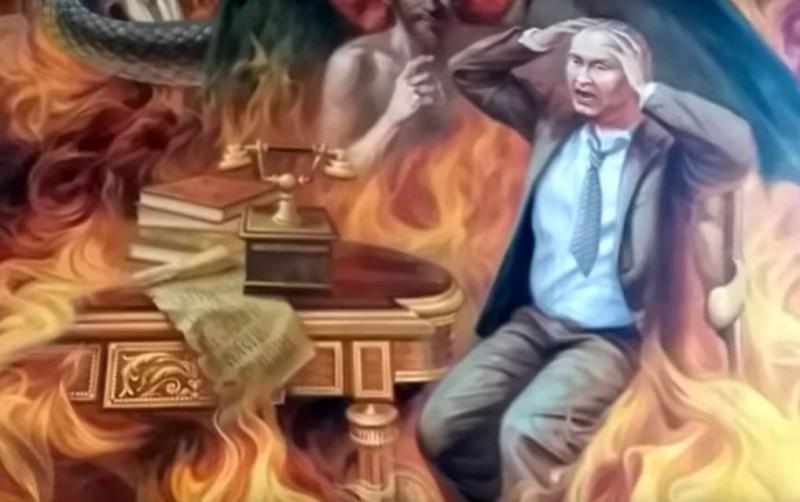 Путин на фреске в Червонограде