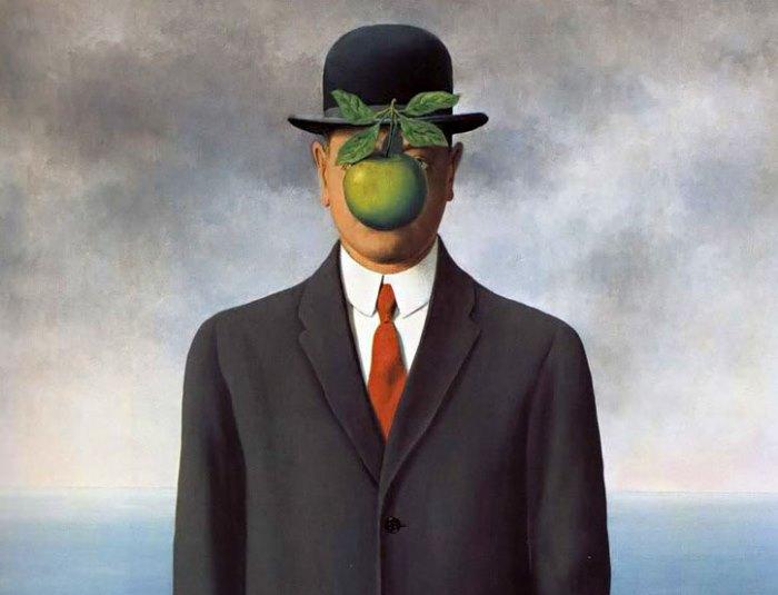 Рене Магритт_Сын человеческий (фрагмент), 1964