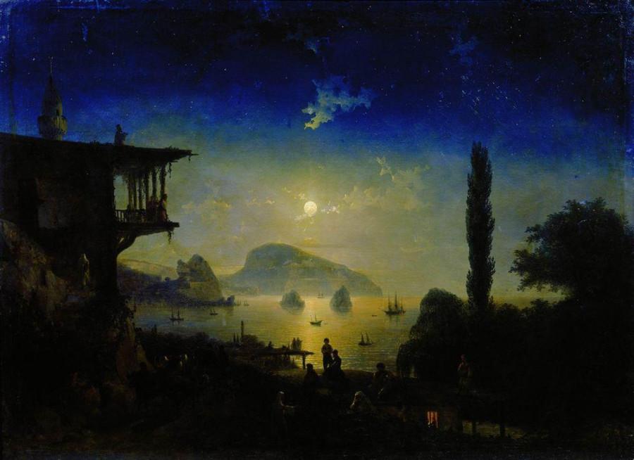 Айвазовский Лунная ночь в Крыму