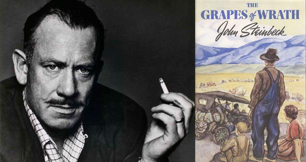 an analysis of the awakening of a mans conscience in the novel grapes of wrath by john steinbeck