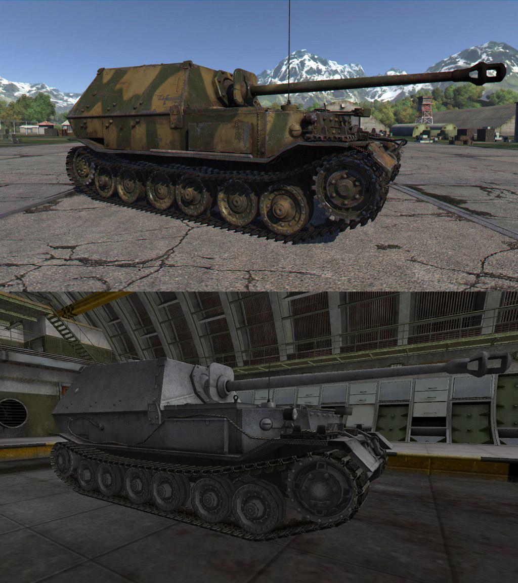 ПТ-САУ Ferdinand в War Thunder и WoT, gosu-wot.com