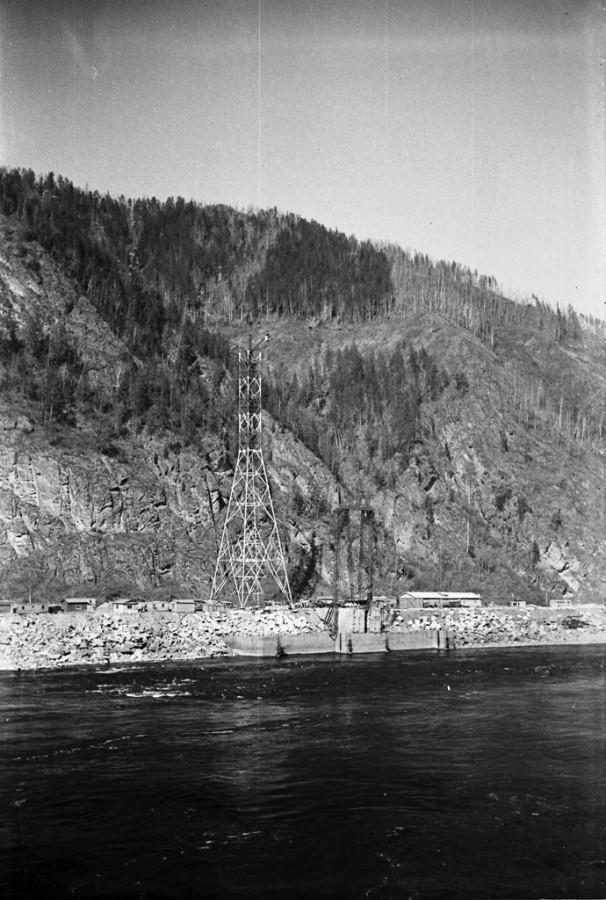 Саяно-Шушенская ГЭС, 1981 год.