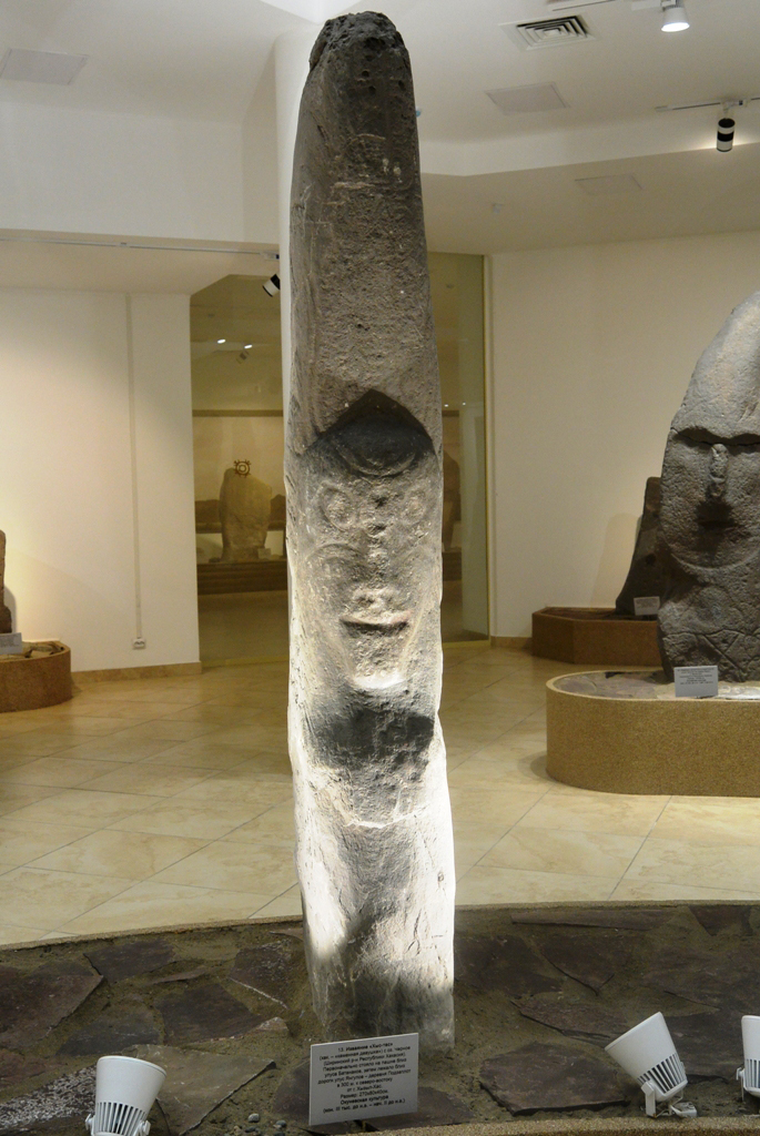 Окуневское изваяние, хранится в Хакасском национальном краеведческом музее г. Абакан