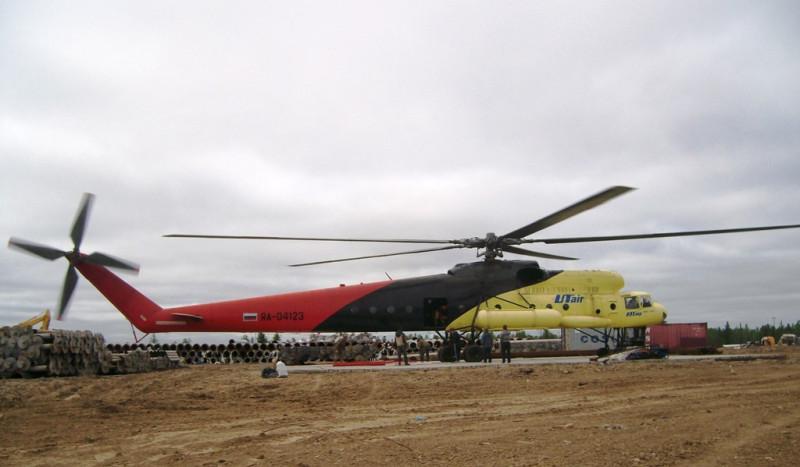 МИ-10к на вертолетной площадке. Седельниково июль 2009