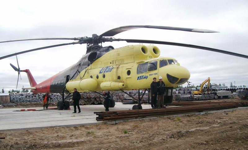 МИ-10к на вертолетной площадке Седельниково, июль 2009