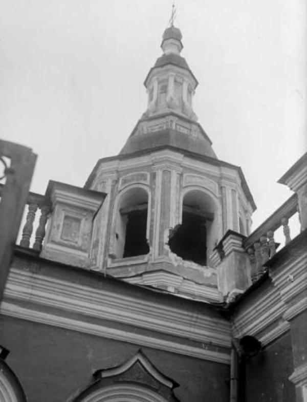 Спасский собор, поврежденная колокольня 1933 год.