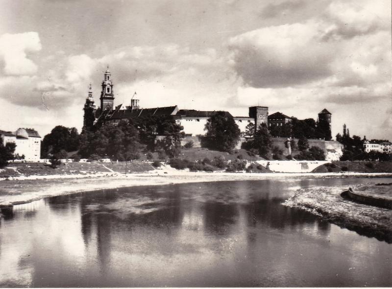 Вид на замок с Вислы.