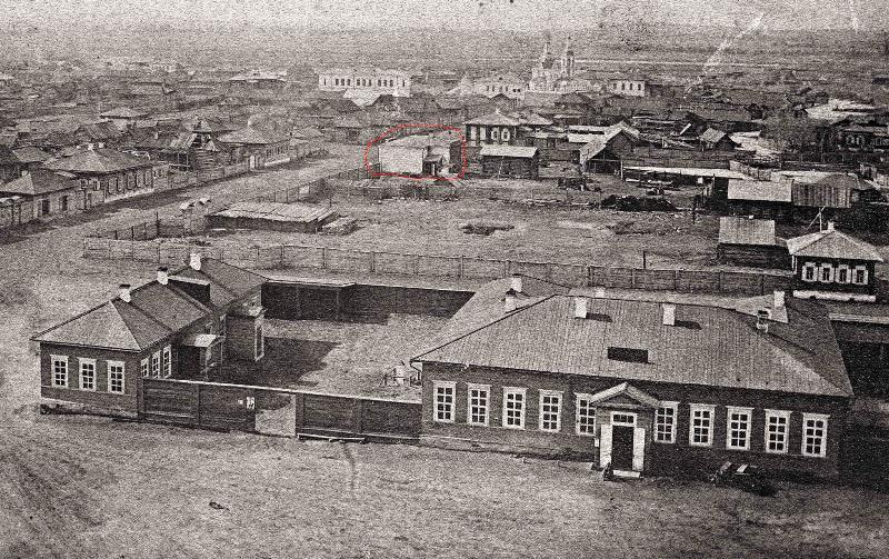 Вид северо-западной и центральной части Минусинска 1886 год. Фото А. Иванова.