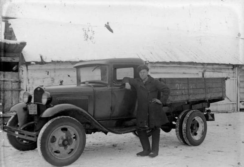 ГАЗ-АА январь 1939 года, село Шушь. Фото Зятьков Н.И.