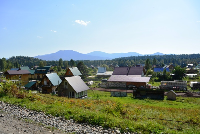 Деревня Черемшанка по дороге к Гуляевскому порогу