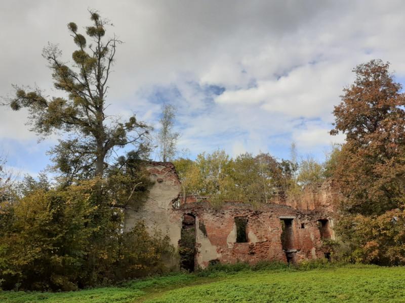 Руины западного флигеля