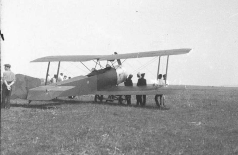 """Аэроплан """"Красноярец"""" 1926 год, фото Поляков В.А."""