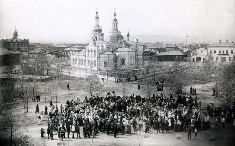 Праздник древонасаждения 8 мая 1911 года, фото Н.В. Федоров