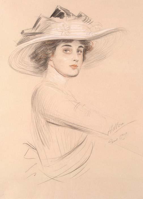 Helleu Paul Cesar - Portrait of a Woman1