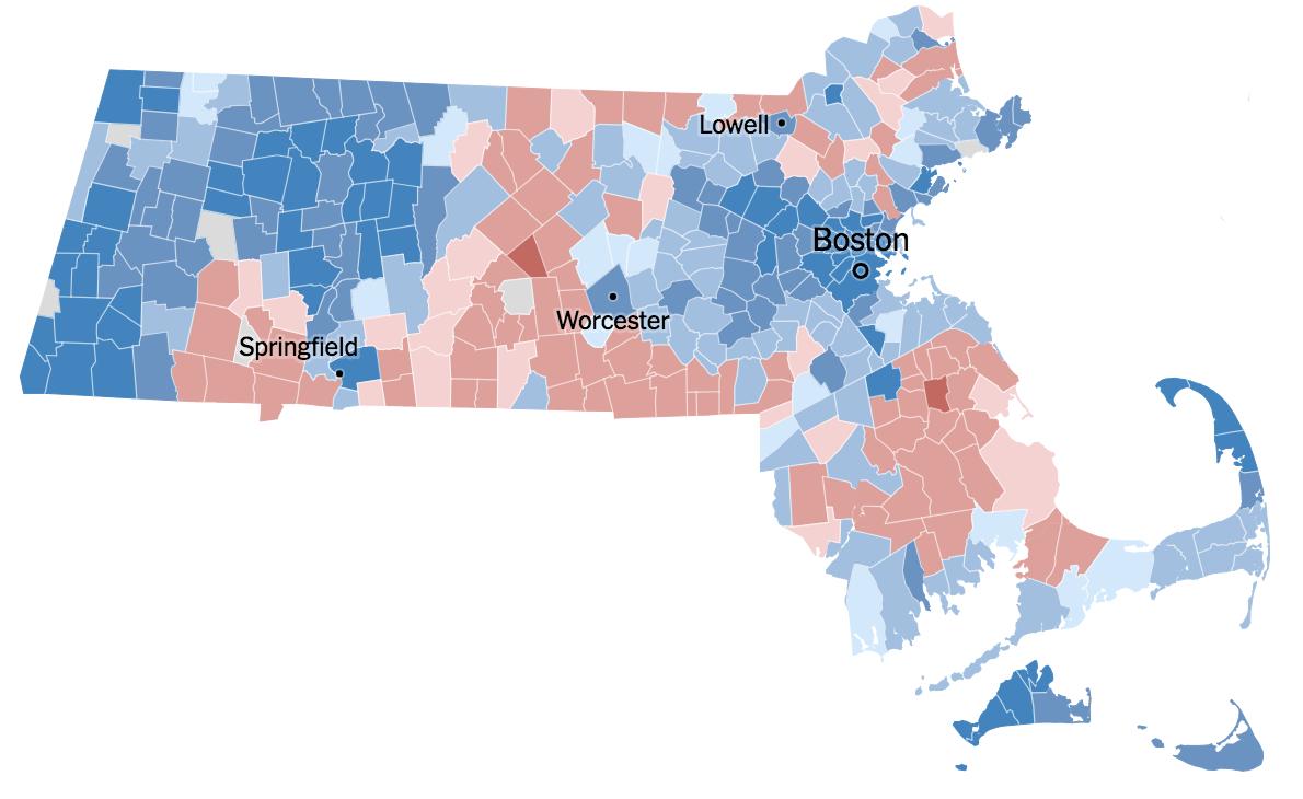 Электоральная карта Elizabeth Warren