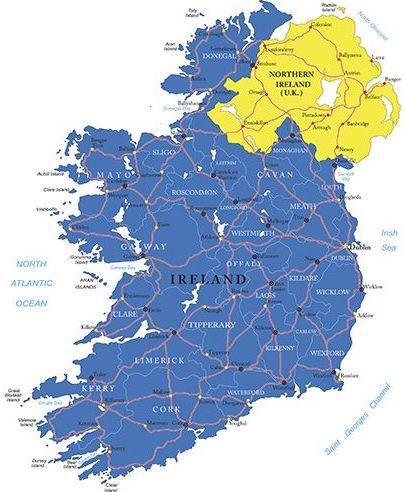 Северная Ирландия: Граница