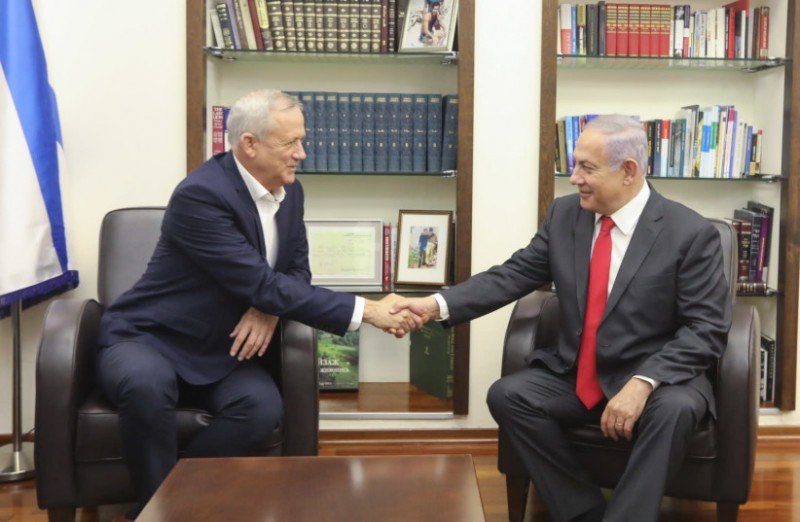 Нетаньяху и Ганц