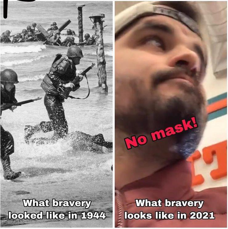 What bravery was and it