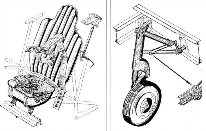 схема шасси и кресло