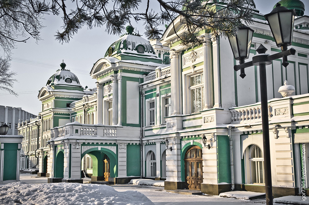 фото драмтеатр зимой в омске вам приехали