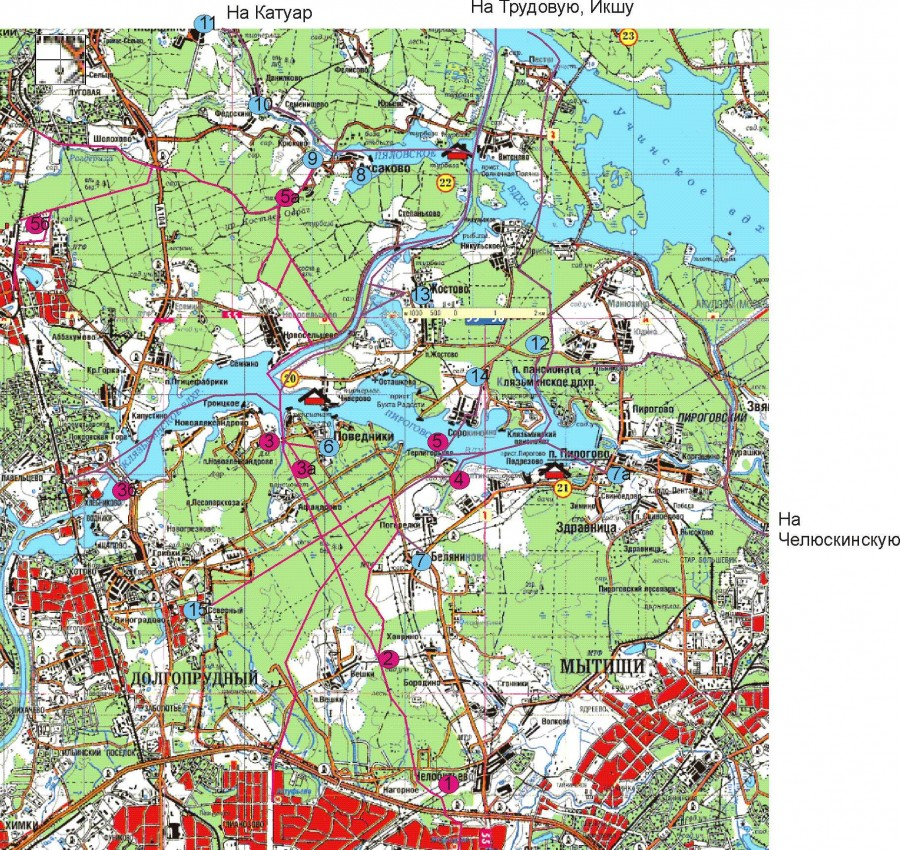 Схема лыжных маршрутов от метро Медведково, ст. Луговая ...: http://igor-bakholdin.livejournal.com/7373.html