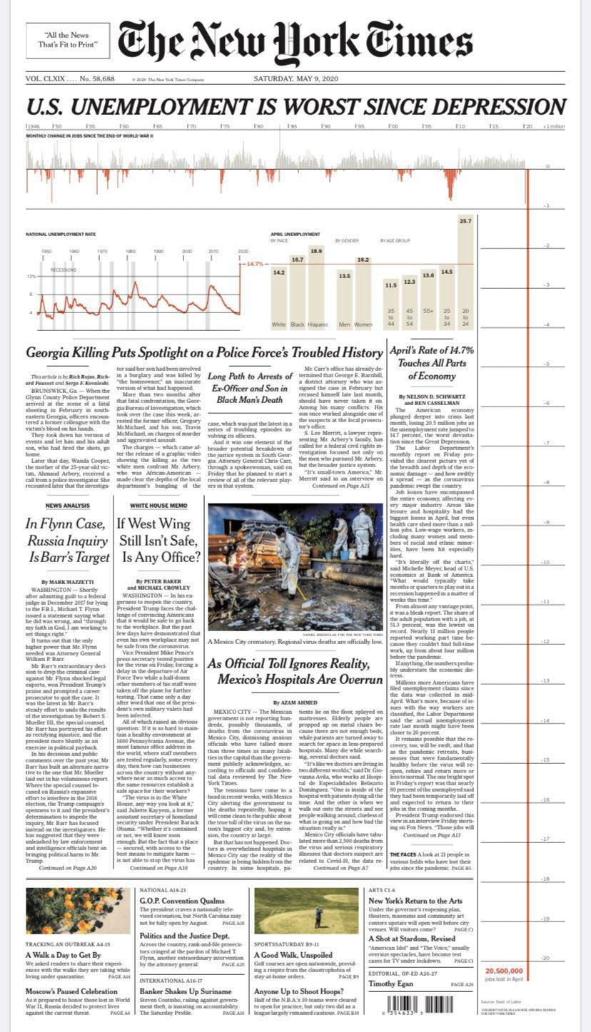 Посмотрите внимательно на график - это изменение по рабочим местам сша за месяц со второй мировой