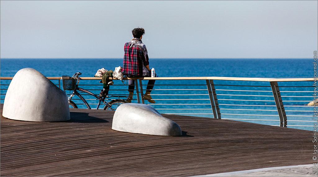 Тель-Авив Израиль море набережная