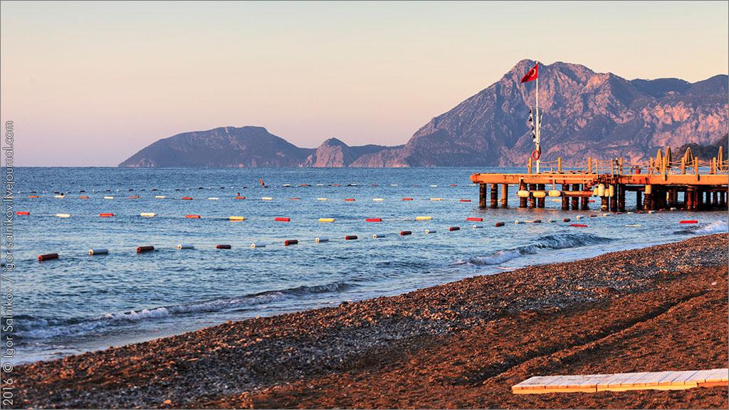 Турция пляж отель Marti Myra восход солнце лето