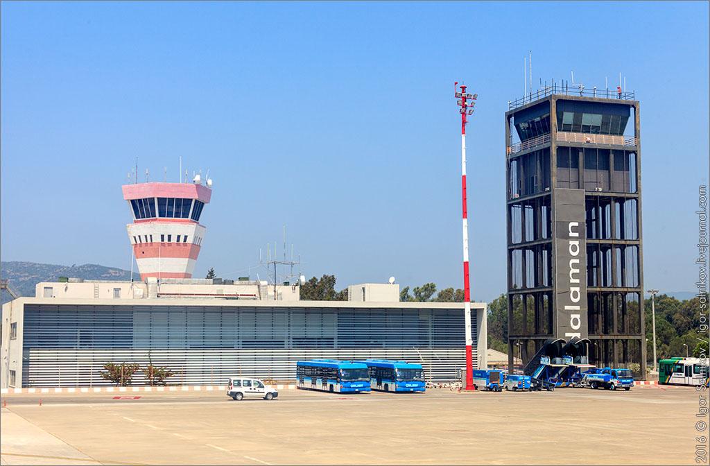 Турция Даламан аэропорт самолет споттинг