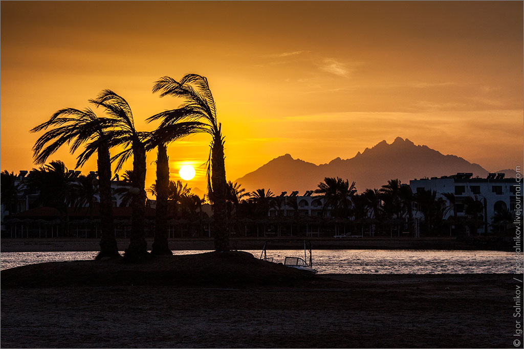 Египет Хургада Jaz Aquamarine Resort закат
