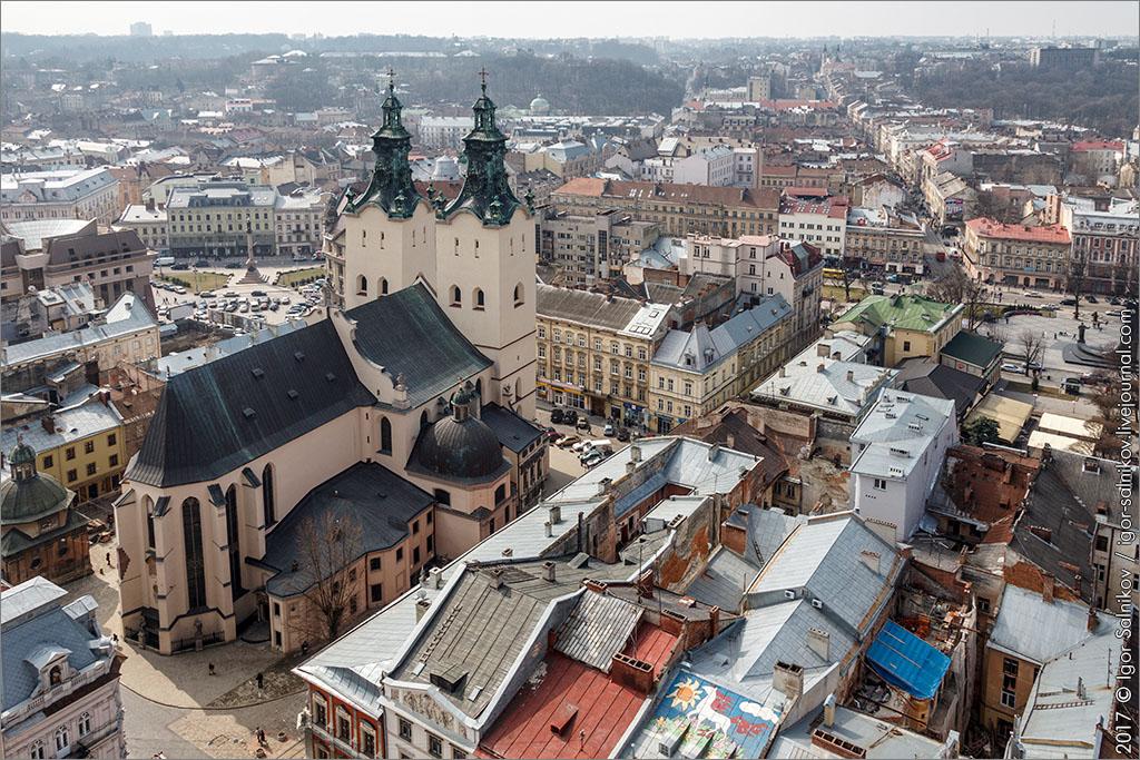Львов Львів площа Ринок катедра