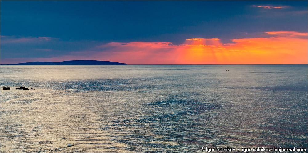 Крым Каралар море закат
