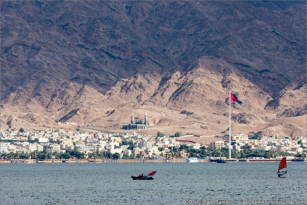 флаг Иордания Акаба Израиль Эйлат Красное море