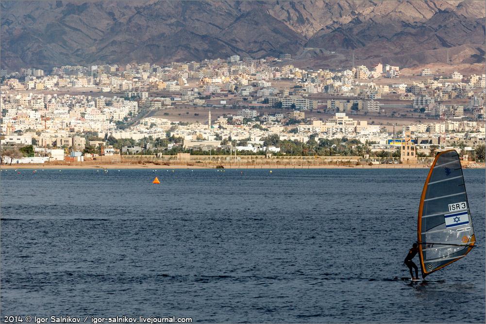Иордания Израиль Эйлат Красное море