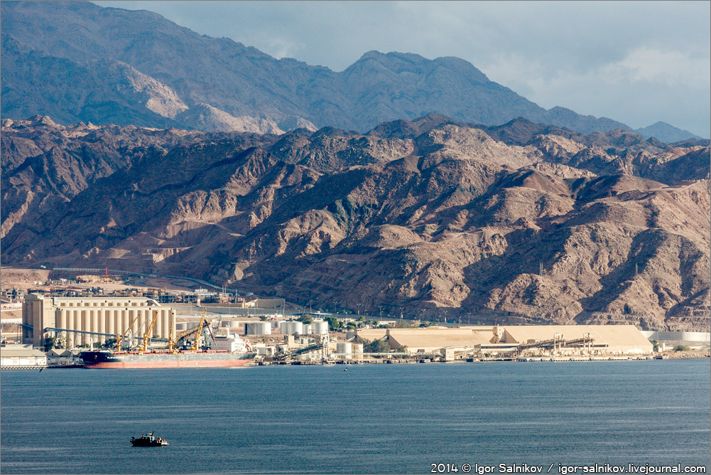 Иордания Акаба Израиль Эйлат Красное море