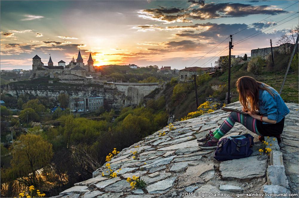 Каменец-Подольский Украина туризм сезон весна крепость
