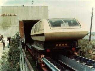 Вагон ТП-5 вылетает из депо