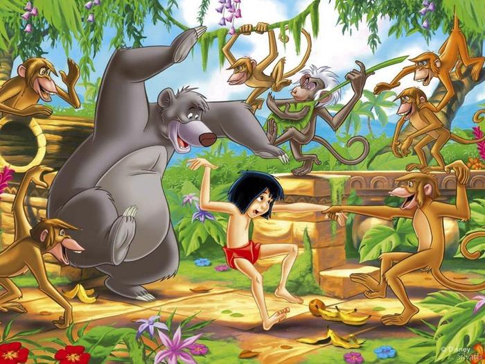 Маугли с обезьянами США