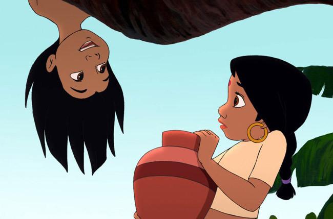 Маугли и девочка 02