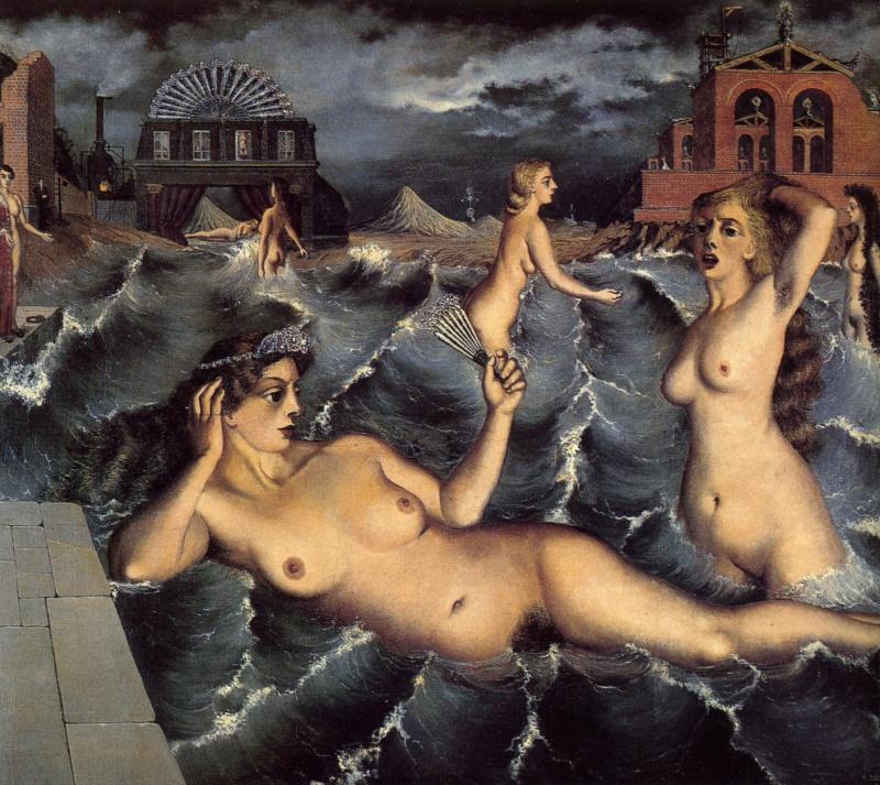 1938-Paul-Delvaux-Les-nymphes-se-baignant-Nymphs-bathing