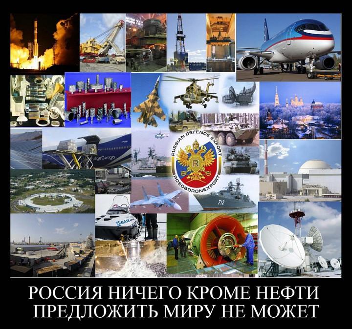 Россия на сегодня является крупным мировым экспортером огромного спектра несырьевых, высокотехнологичных товаров и услуг