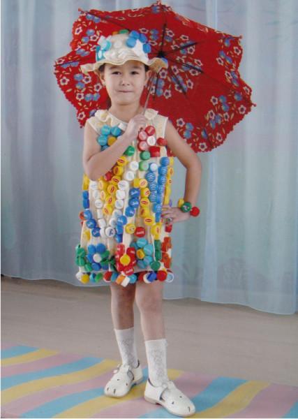 Платье из дисков для девочки