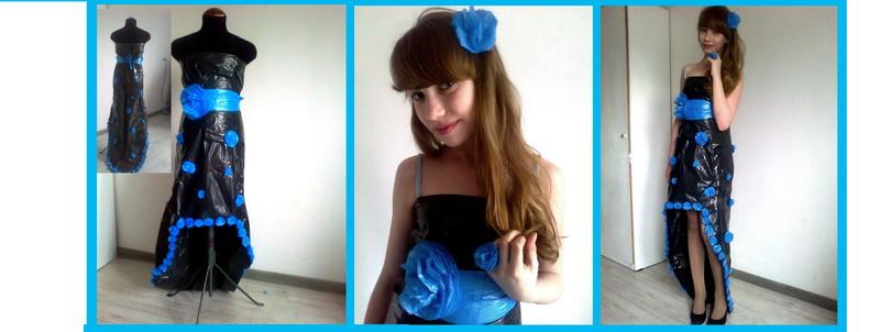 Платье выполняется макетно-муляжным способом.